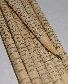 The Hobbit Party Favors - Six Hand Wrapped Pencils with Individual Tags.