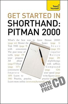 Download free Get Started In Shorthand Pitman 2000 (Teach Yourself) pdf