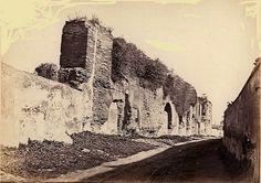 Via di Santo Stefano Rotondo e i resti dell'Acquedotto Neroniano Anno: 1865 ca.