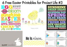 project life printables | Free Easter Printables for Project Life #3 | [ One Velvet Morning ]