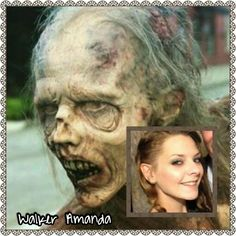 Amanda |The Walking Dead Zombies Before and After Makeup