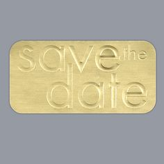 Neat Lines - Save the Date Seal - Gold Foil