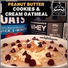 Peanut butter cookie     Peanut butter cookies and cream protein oatmeal