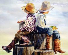 Click to view available originals of Cowboy Art and Fly Fishing Watercolor Paintings by Nelson Boren.