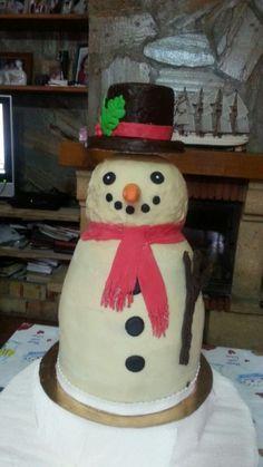 Tarta chocolate muñeco de nieve