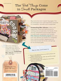 Mini Albums Paper Bag Cook book This is a cute idea Jennifer for the cookbook for your girls