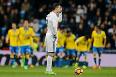 Real Madrid 3 Las Palmas 3: Cristiano Ronaldo nets last minute equaliser for ten man Galacticos after idiotic Gareth Bale red card