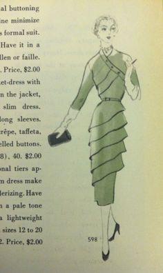 Page from a 1944 Vogue Patterns catalog. #voguepatterns #vintagepatterns
