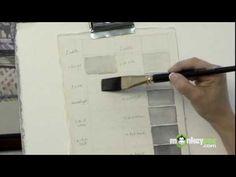 Watercolor Painting Basics - How to paint black