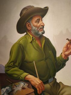 Thomas Hart Benton 'Desert Artist' 1962, Kemper Museum of Contemporary Art, Kansas City, Missouri