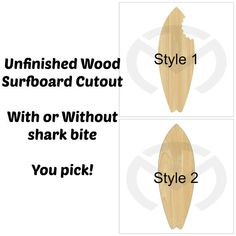 Unfinished+Wood+Surfboard+Laser+Cutout+Home+by+TaraMarProducts