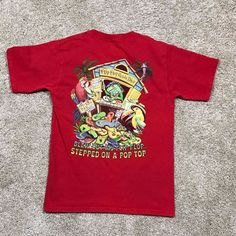 Jimmy Buffett Margaritaville Blew Out My Flip Flop Red Short Sleeve Shirt Sz S #Margaritaville #GraphicTee
