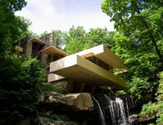 Falling Water Fallingwater 1491 Mill Run Road Mill Run, PA 15464 Falling Water House, Falling Waters, Organic Architecture, Art And Architecture, Frank Loyd Wright Houses, Falling Water Frank Lloyd Wright, Places Ive Been, Places To Go, Best Architects