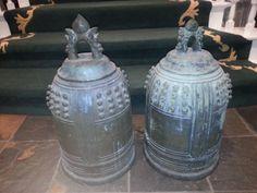 japanese buddhist bells   Antique Japanese Bronze Zen Buddhist Bells