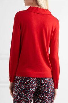 Vanessa Seward - Dilly Ruffled Merino Wool And Silk-blend Sweater - Red - FR