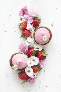 Gluten-Free Strawberry Cupcakes | Farm on Plate