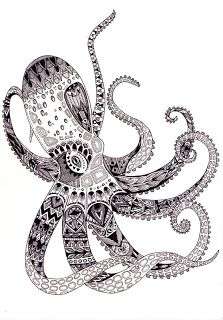 Octopus Zentangle