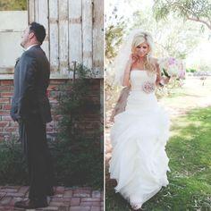 Wedding. First look.