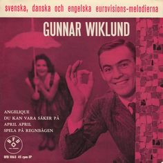 "Gunnar Wiklund synger fra 4 Eurovision-sange. Det er vindersangene fra Sverige, Danmark og Storbrittanien 1961. I tillæg synger han ""Spela på regnbågen"" fra Melodifestivalen 1961.   ---  Har omslaget. Søger sangene ""Angelique"" og ""Du kan vara säker på""."