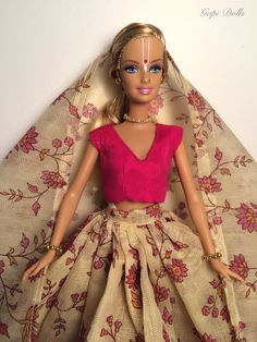 Gopi Doll Altered barbie doll Puspalocani by GopiDesigns on Etsy