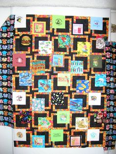 small buffett tshirt quilt - this one brought $700 for charity