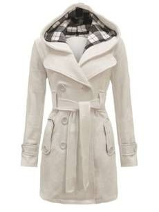 Buy Bowknot Double Breasted Turtleneck Blended Plain Overcoat online with cheap prices and discover fashion Coats at Fashionmia.com.