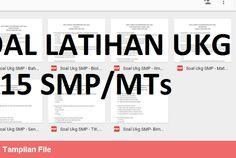 [File Pendidikan] Soal-Soal Latihan UKG Tingkat SMP/MTs 2015