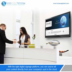 With the right #digitalsignage platform, you can #source all your #content directly from your #company's spot in the cloud. #TucanaGlobalTechnology #Manufacturer #HongKong