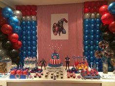 Decoración de fiestas infantiles ¡del Capitán América!