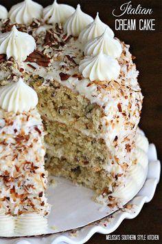 Italian Cream Cake - CountryLiving.com