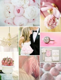 If I was having a pink wedding, this would be it! Pastel pink perfection wedding inspiration board.