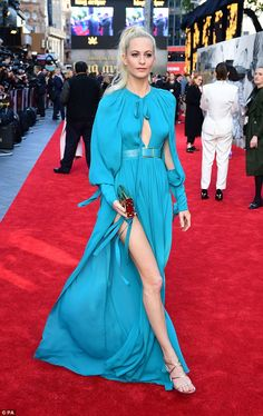 Wow: Poppy Delevingne arrived in style to the King Arthur: Legend Of The Sword premiere at the Odeon Leicester Square in London on Wednesday night