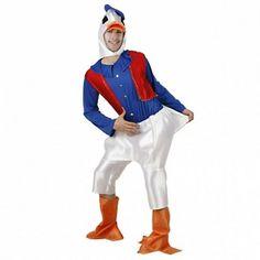 Disfraces Disney hombre | Disfraz de pato Donald. Contiene cubre zapatos y buzo de cuerpo entero con chaleco rojo. Incluye capucha de pato.Talla M/L. 17,95€ #pato #Donald #disfraz #PatoDonald #disney #disfraces #disfrazdisney