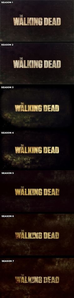 """The title screen during the opening credits decays a little every season. 