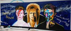 David Bowie Tribute Mural, hand painted at InTu Bromley