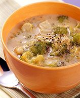 Our cheesy broccoli soup is so creamy and delicious you'll never believe it's light. #recipe #WWLoves