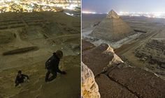 The view from the TOP of the Great Pyramid: Illicit photos taken by tourists who secretly climbed wonder of the world at night #DailyMail