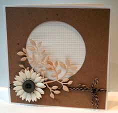 handmade card from Onions and Paper .... neutrals .. die cut flower and foliage ..