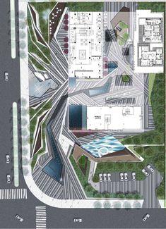 Gallery of Xi'an Shang Yue Cheng Landscape / Waterlily Studio - 27 Landscape Plane, Landscape Architecture Drawing, Landscape Elements, Garden Landscape Design, Architecture Diagrams, Master Plan, Cool Landscapes, Water Lilies, How To Plan