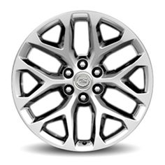 Escalade 22in Wheels, Chrome, CK156, SEY:Personalize your Escalade with these 22-Inch Chrome Accessory Wheels.