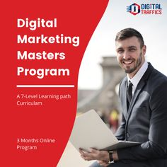 Up-skill yourself with one of the most sought after career option & grow with our Digital Marketing Masters Online Course....  👩💻 Live Online Classes 👩🏫 Industry Qualified Trainers 🖱️ Hands On Experience in live projects 👩👧1 on 1 mentor-ship  For Course Related Enquiries Connect with us on +91 96295 63927  #DigitalTraffics #digitalmarketing #seo #FacebookAds #DigitalCourses #DigitalMarketingCourses #DigitalIndia #onlinelearning #lockdownlearning #careerindigitalmarketing Digital India, Career Options, Masters Programs, Online Programs, Online Courses, Seo, Digital Marketing, Trainers, Connect