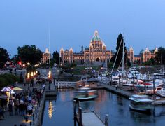 I love Victoria, BC.  Once upon a time I sat looking out the window of a cruise ship on its buildings as I folded napkins for every guest on board a cruise ship (I was given extra duties for oversleeping twice in a day).
