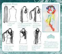 6 Ways to Tie a Scarf // The Fashion Knot