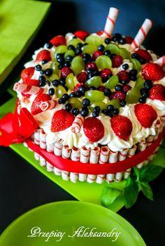 Aleksandra's Recipes: Summer fruits cheesecake with fatless sponge cake