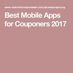 - Best Mobile Smartphone Apps for Couponing 2016 I had people request what are the best mobile apps for couponers, so here are my favorites! Please leave a - Best Mobile Apps for Couponers 2016 Best Mobile Apps, Mobile Smartphone, Shopping Hacks, Coupons, Saving Money, Budgeting, Life Hacks Shopping, Save My Money, Budget Organization