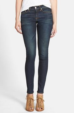 rag & bone/JEAN High Rise Skinny Stretch Jeans (Chaucer) available at #Nordstrom