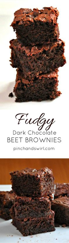 Fudgy Dark Chocolate Beet Brownies - you won't taste the beets, but they'll make the texture of your brownies heavenly!