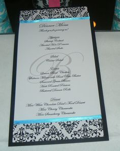 Damask print with teal accents