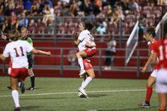 John's women's soccer team, including three players who hail from Long Island. College Soccer, Running, Sayings, Sports, Women, Hs Sports, Lyrics, Keep Running, Why I Run