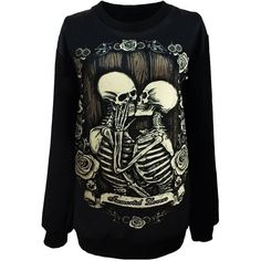 Unisex Gothic Clothing Zombie Princess Little Mermaid Sweatshirts... ($17) ❤ liked on Polyvore featuring tops, shirts, sweaters, jackets, gothic tops, unisex shirts, gothic shirt, sweater pullover and pullover tops